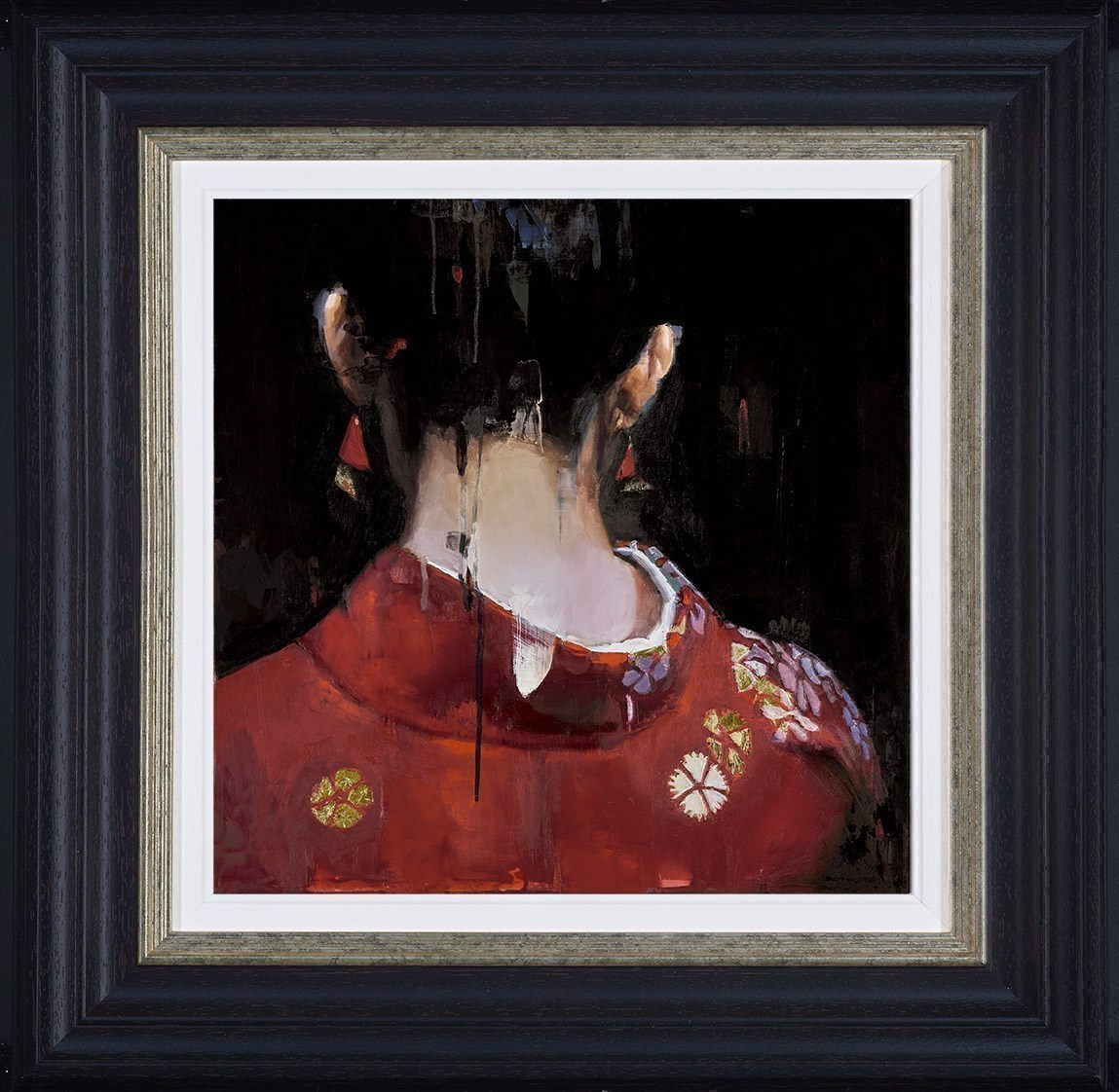 Red Kimono by Christian Hook - Limited Edition on Paper sized 14x14 inches. Available from Whitewall Galleries